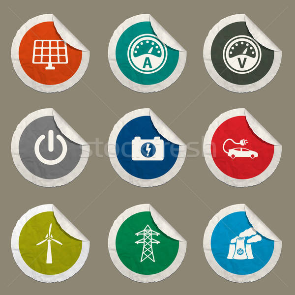Stock photo: Electricity simply icons