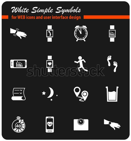 Jogging and workout icons set Stock photo © ayaxmr