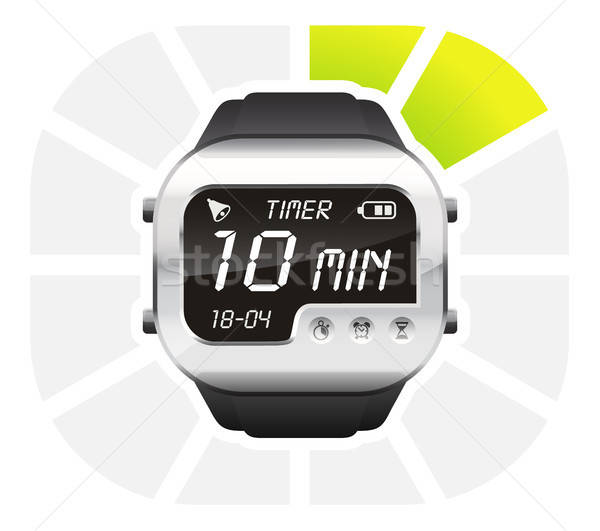 digital watch timer 10 minutes Stock photo © ayaxmr