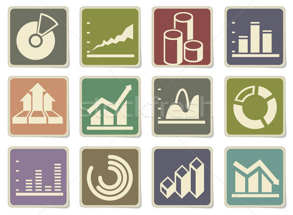 Information graphic icons Stock photo © ayaxmr