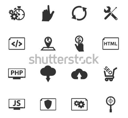 SEO and Development icons set Stock photo © ayaxmr