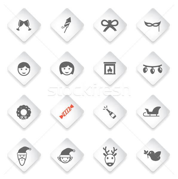 Рождества просто иконки символ веб-иконы пользователь Сток-фото © ayaxmr