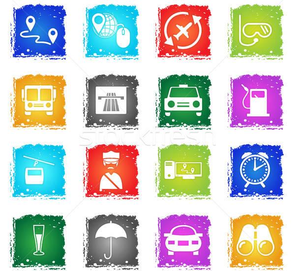 Stock photo: travel icon set