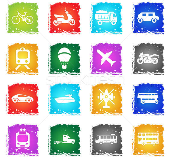 transport types icon set Stock photo © ayaxmr