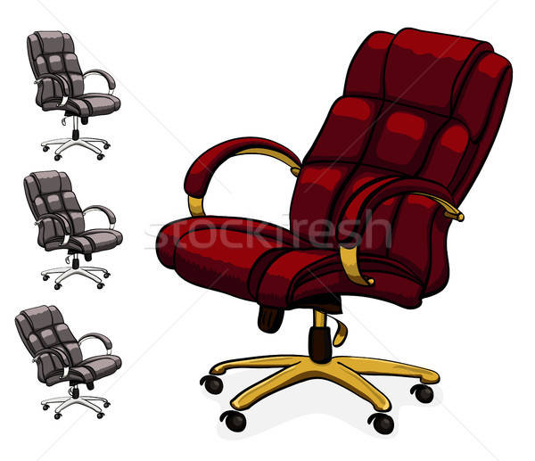 Office executive leather desk chair. Stock photo © ayaxmr