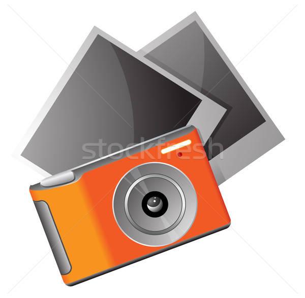 Camera foto's digitale camera eps10 glas oranje Stockfoto © ayaxmr