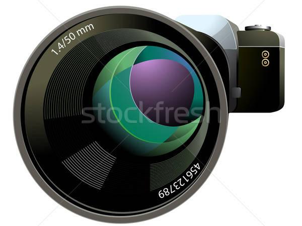 SLR Camera vector illustration Stock photo © ayaxmr