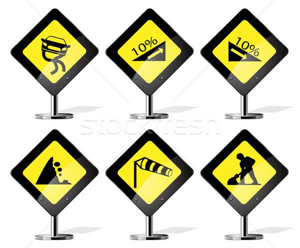 Road Sign Icons Stock photo © ayaxmr