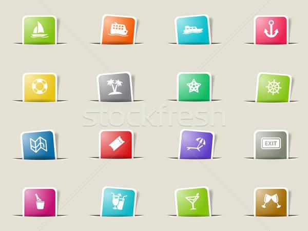 Croisière simplement icônes web utilisateur Photo stock © ayaxmr
