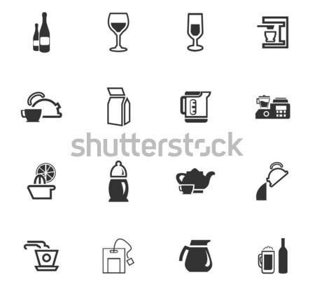 Preparación bebidas web usuario Foto stock © ayaxmr