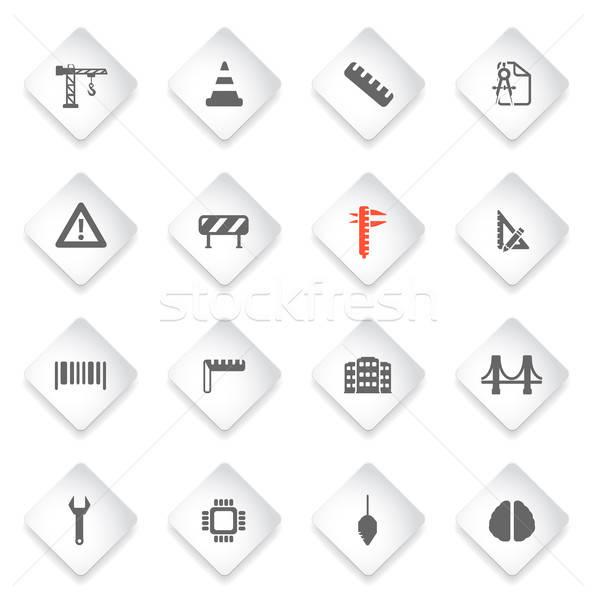Inżynierii po prostu ikona symbol web ikony użytkownik Zdjęcia stock © ayaxmr