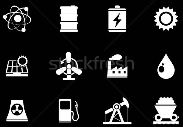 Icon Set, Energy and Industry Stock photo © ayaxmr