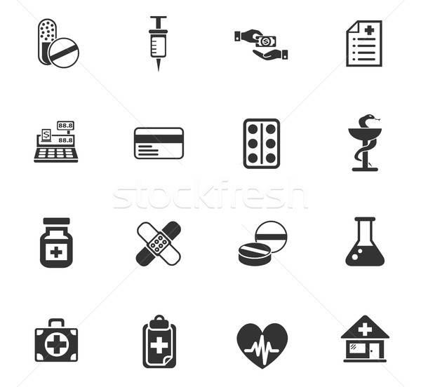 drug store icon set Stock photo © ayaxmr