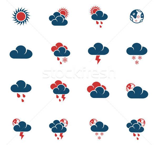 Hava durumu web simgeleri kullanıcı arayüz dizayn Stok fotoğraf © ayaxmr