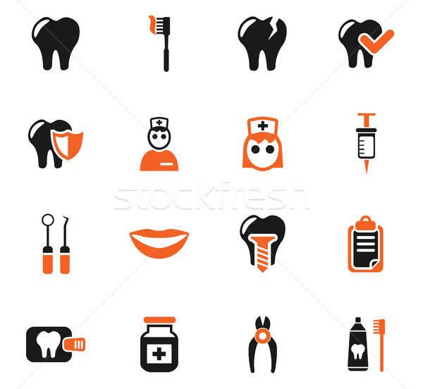 Dentales oficina iconos de la web usuario interfaz Foto stock © ayaxmr