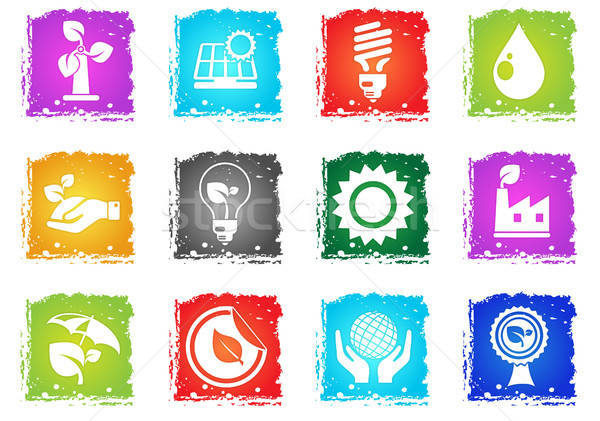 Ecology and recycle icons Stock photo © ayaxmr