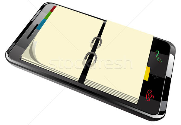 daily planner in smart phone Stock photo © ayaxmr