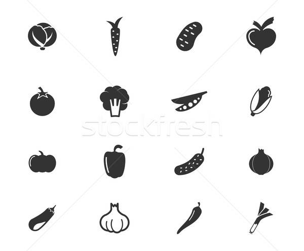 Vegetables simply icons Stock photo © ayaxmr