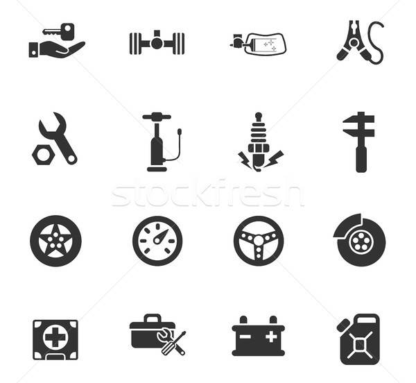 car shop icon set Stock photo © ayaxmr