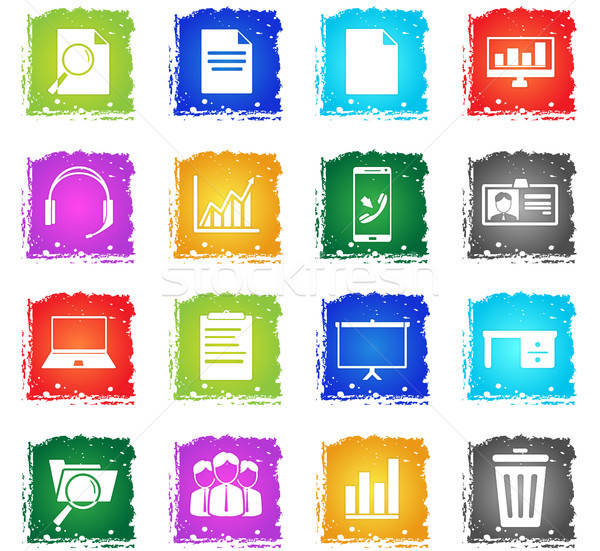 Office simply icons Stock photo © ayaxmr