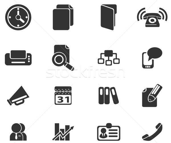 Stock photo: Business simple vector icons