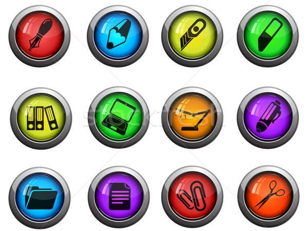 Stock photo: Office icons set
