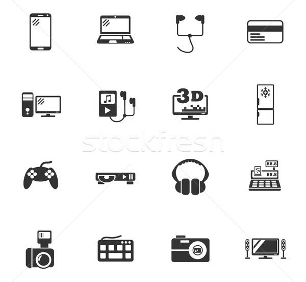 Elektronica supermarkt web icons gebruiker interface Stockfoto © ayaxmr