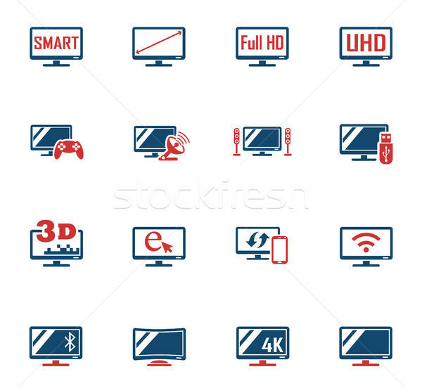 smart tv icon set Stock photo © ayaxmr