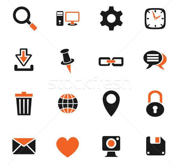 Blog web icons gebruiker interface ontwerp Stockfoto © ayaxmr