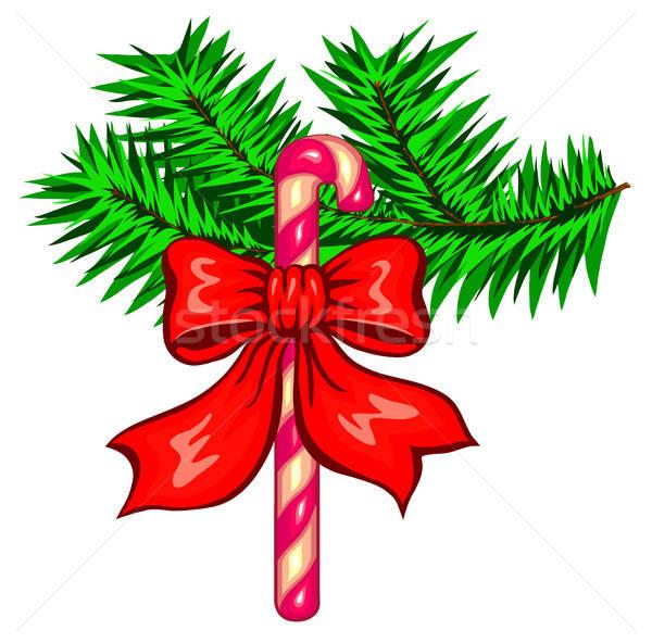 Navidad decoración aislado blanco árbol diseno Foto stock © ayaxmr