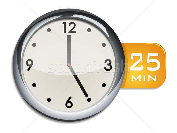 office wall clock timer 25 minutes Stock photo © ayaxmr