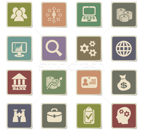 business management and human resources icon set Stock photo © ayaxmr