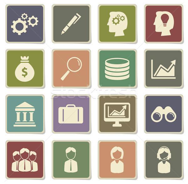 ストックフォト: オフィス · 単に · アイコン · ベクトル · ウェブ · ユーザー