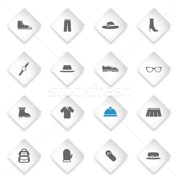 Clothes simply icons Stock photo © ayaxmr