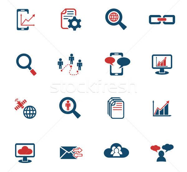 ストックフォト: データ · 分析的な · 社会的ネットワーク · webアイコン · ユーザー