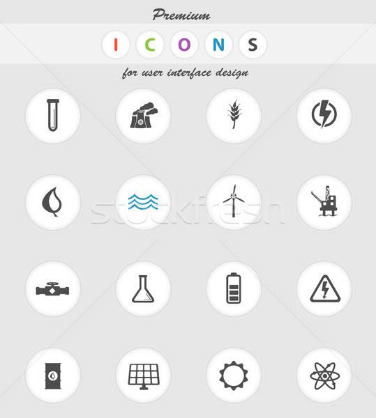 Macht generatie eenvoudig iconen vector web Stockfoto © ayaxmr