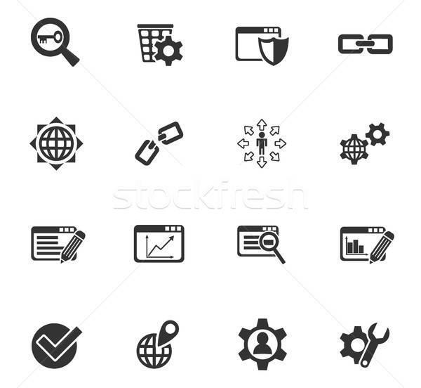 seo and development icon set Stock photo © ayaxmr