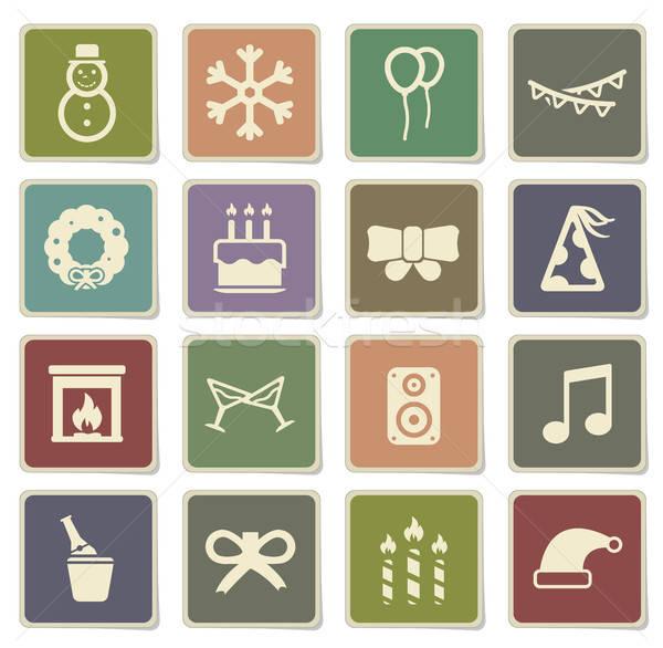 Zdjęcia stock: Nowy · rok · po · prostu · ikona · wektora · internetowych · użytkownik