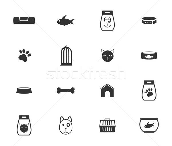 Goods for pets icons Stock photo © ayaxmr