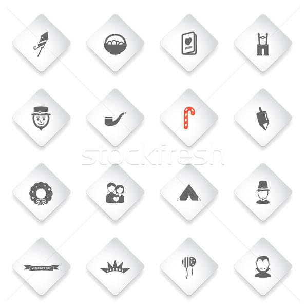 Vakantie eenvoudig iconen symbool web icons gebruiker Stockfoto © ayaxmr