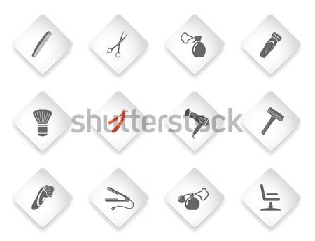 Uitrusting duiken eenvoudig symbolen web gebruiker Stockfoto © ayaxmr