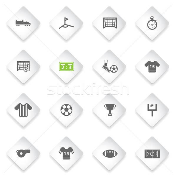 Futebol simplesmente ícones símbolo os ícones do web usuário Foto stock © ayaxmr