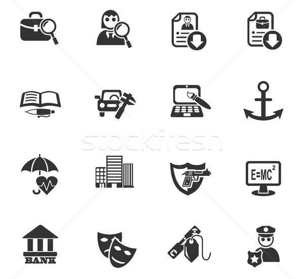 job search icon set Stock photo © ayaxmr