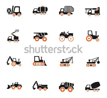 Foto stock: Construção · maquinaria · os · ícones · do · web · usuário · interface