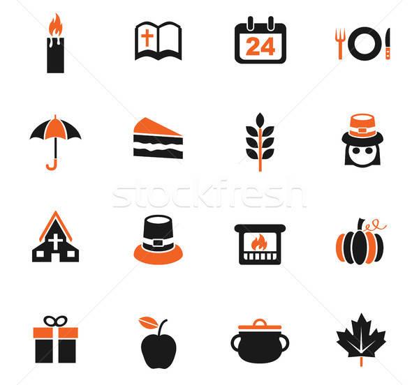 thanksgiving day icon set Stock photo © ayaxmr