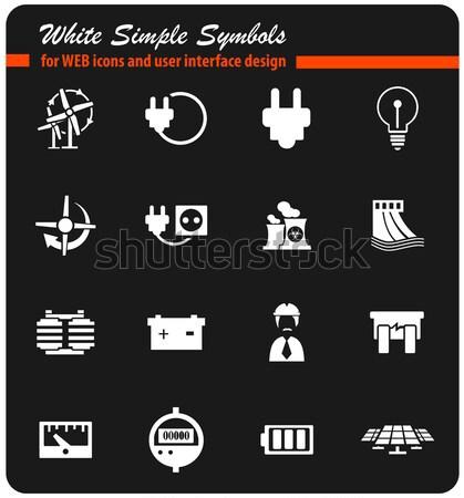 Elektrycznej po prostu ikona internetowych użytkownik Zdjęcia stock © ayaxmr