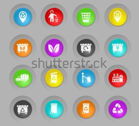 Garbage Icons set Stock photo © ayaxmr