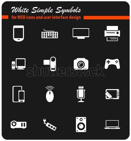 Symbool web icons gebruiker interface Stockfoto © ayaxmr