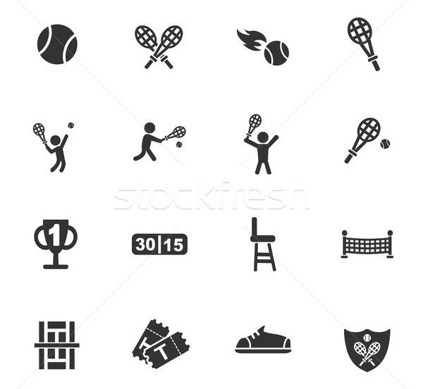 Tenis web simgeleri kullanıcı arayüz dizayn Stok fotoğraf © ayaxmr