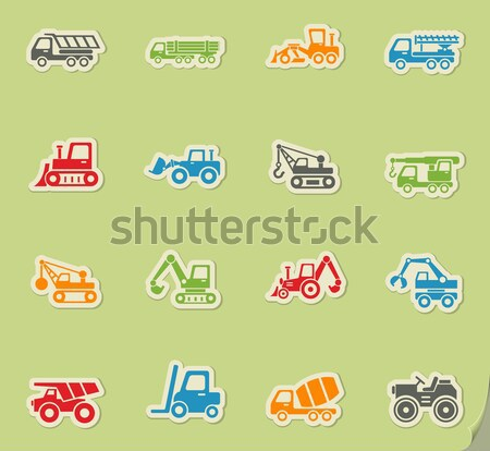 Bouw machines web icons gebruiker interface Stockfoto © ayaxmr